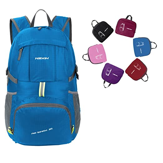 23d485a4b1 Lightweight Packable Durable Water Resistance Travel Backing Daypack for  Men Women 35L Travle Bag