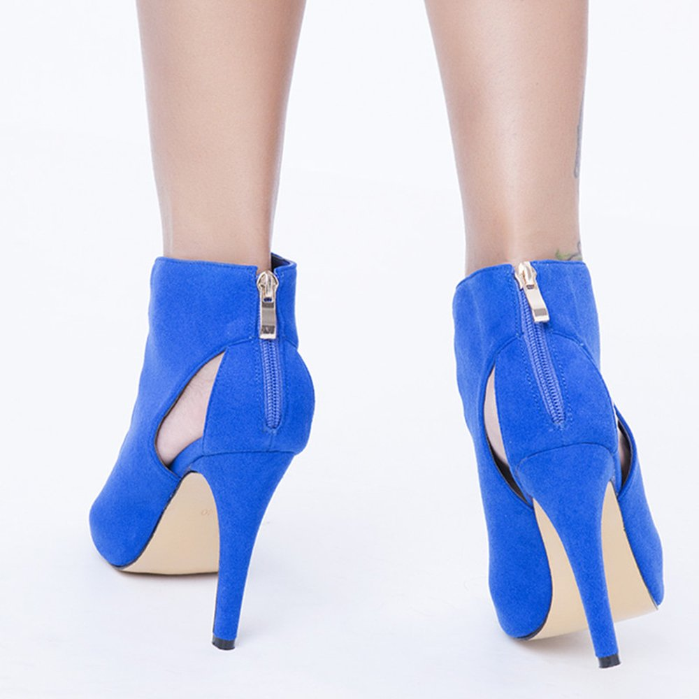 Original Intention Womens Heeled Sandals Fashion Open Toe Thin Heels Blue Shoes for Women
