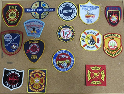 TEXAS FIRE/RESCUE DEPARTMENT PATCHES! SET TWO! LOT OF 15!