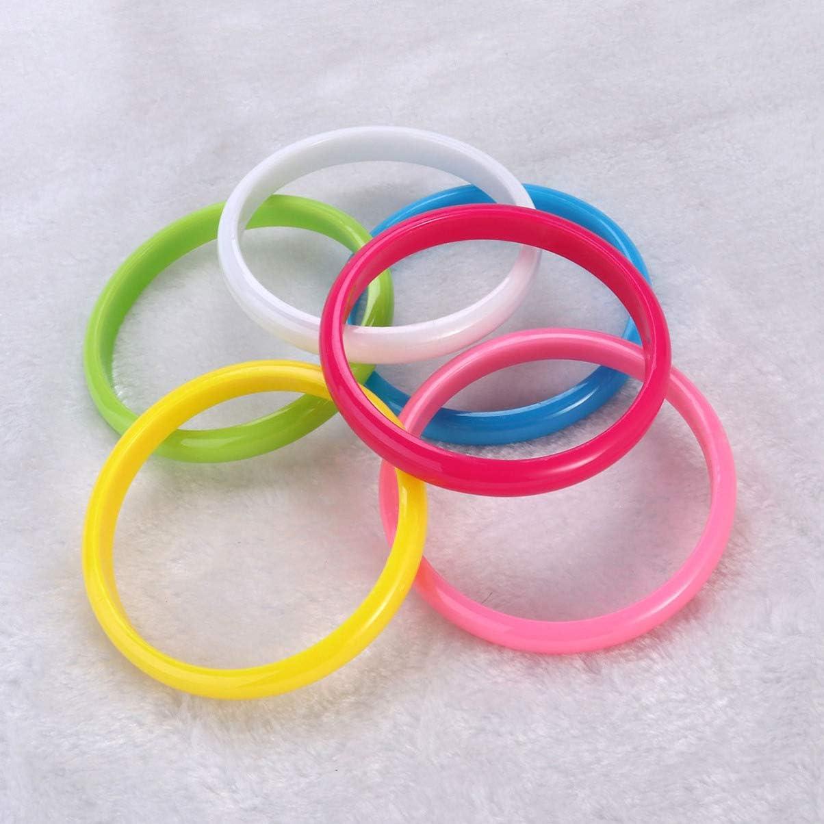 Couleur al/éatoire NUOBESTY Bracelet en Plastique Bracelets Bonbons Couleur Bracelet Parti faveurs Pack pour f/ête danniversaire 12pcs