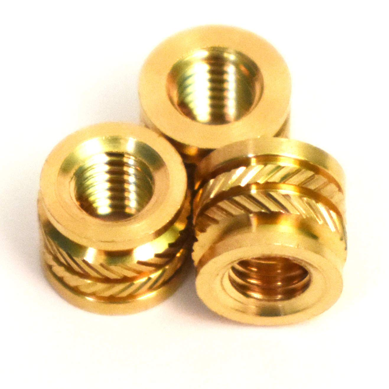 4.7 mm Length 50 pcs Press Fitting or Heat Sink or Injection Molding Type Female M4 Thread M4 Brass Insert 50pcs,6.5mm OD J/&J Products