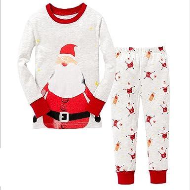 2816b7ec2e21 Amazon.com  Hooyi Baby Girl Sleepwear Cotton Long Sleeve Christmas ...