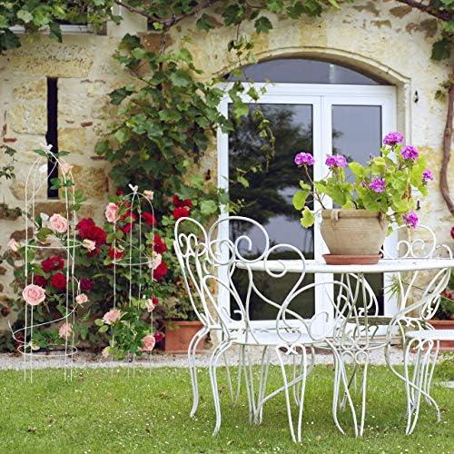 Relaxdays Set de Dos Soportes para trepadoras, Resistente, Blanco ...