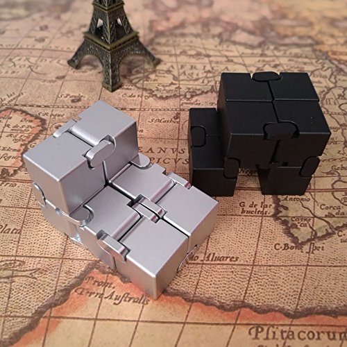 Naxxlab Infinity Cube, Metal Aluminum Alloy Prime Killing Time Fidget Toy Gifts for ADD ADHD Anxiety Autism Adult and Children (Silver) by SLEEPON (Image #4)