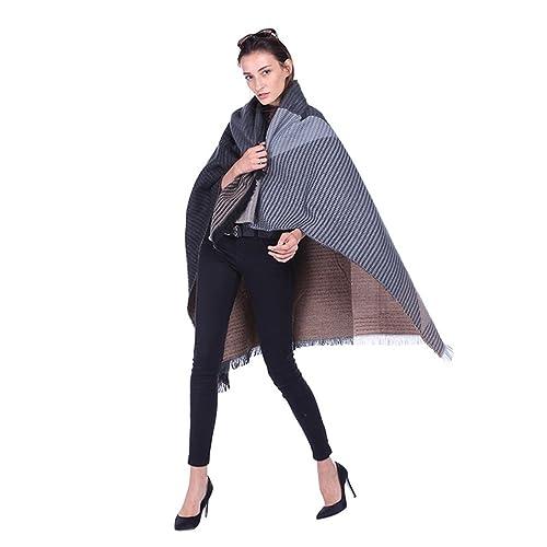 ZKOO Donna Patchwork Sciarpa Scialle Caldo Oversized Lungo Nappe Sciarpe Grande Stola Wrap Autunno Inverno