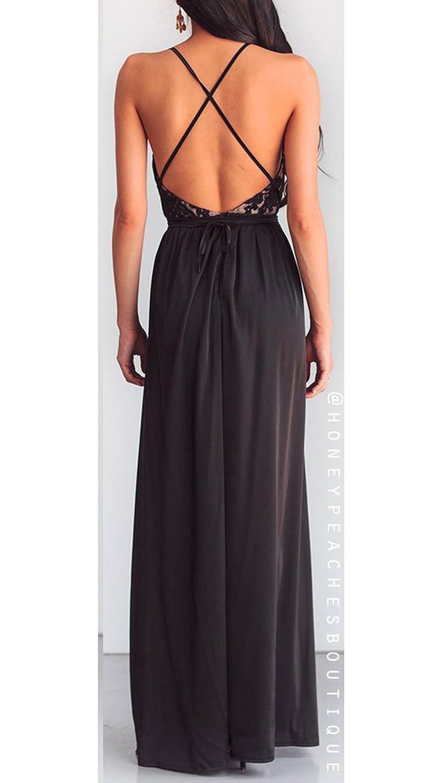f85c11f00 ANNA QUEEN De las mujeres Sexy Vestido largo
