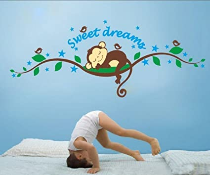 Decals Design U0027Sweet Dreams Sleeping Monkeyu0027 Wall Sticker (PVC Vinyl, 70 Cm