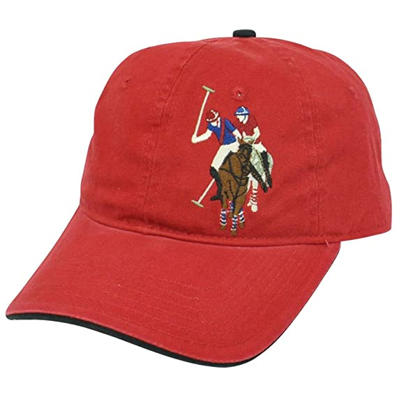 6610d3b26dd1 US Polo Association Assn Mens Tonal Horse Logo Garment Wash Relaxed Hat Cap  Red  Amazon.in  Clothing   Accessories