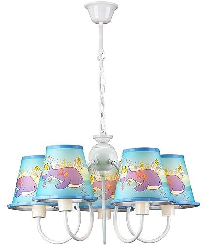 PureLumeTM - Lámpara de techo de ballenas para habitación ...