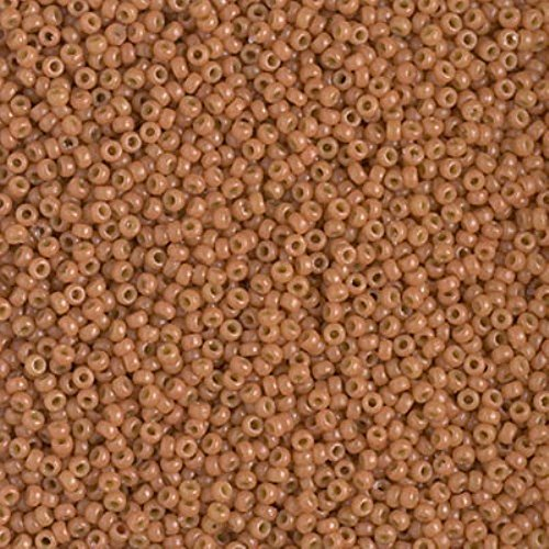 Miyuki Round Rocaille Seed Beads Size 15/0 8.2GM-Tube DURACOAT Opaque Creamy Coral 15-4457 ()