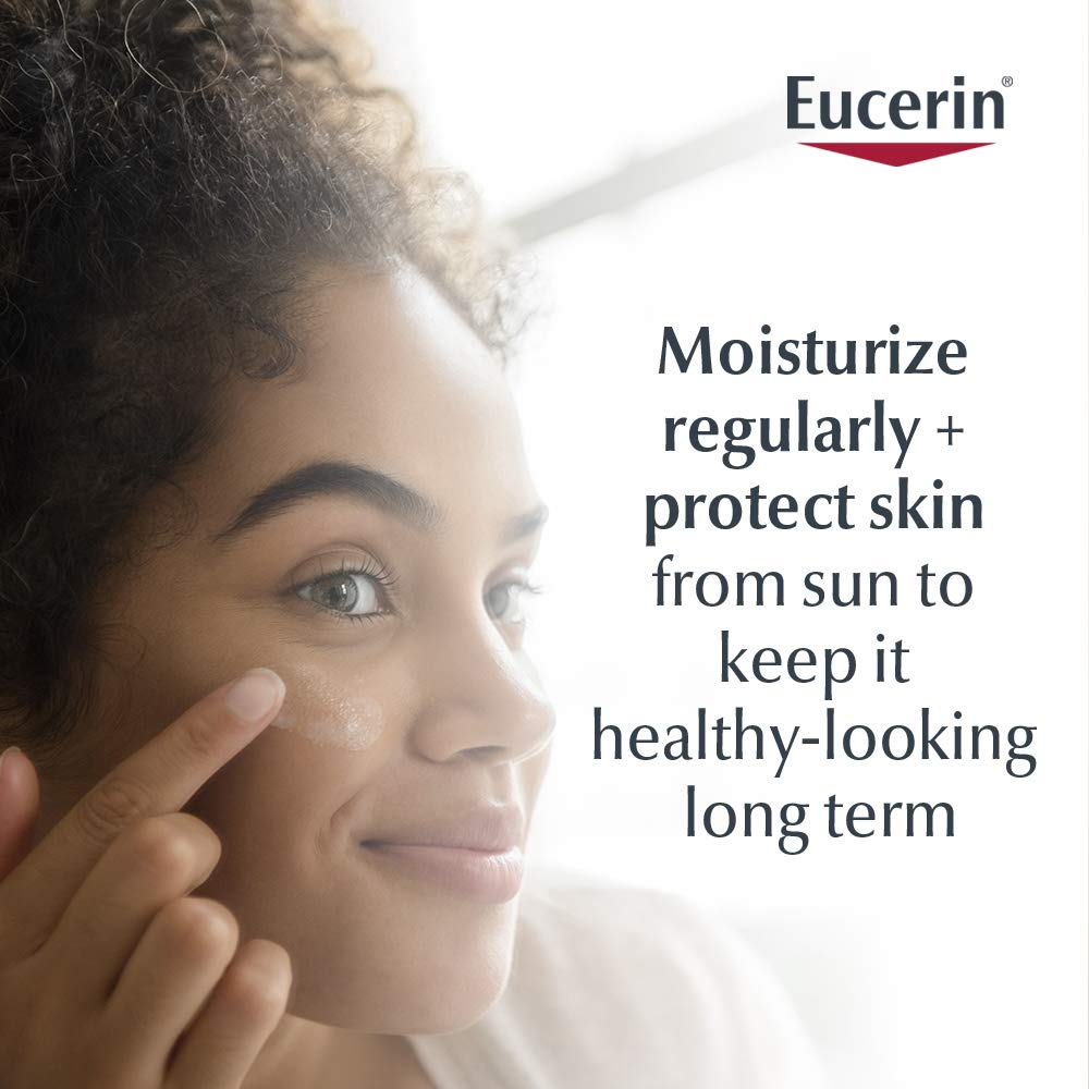 Eucerin Daily Protection Face Lotion - Broad Spectrum SPF 30 - Moisturizes and Protects Sensitive, Dry Skin - 4 Fl. Oz. Pump Bottle: Beauty