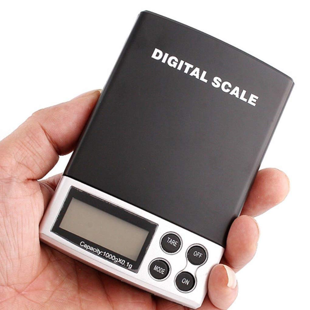 Flushzing 0 1g 1000g 1 kg Waage Digital Pocket-Balancen-wiegende Mini-Skala LCD
