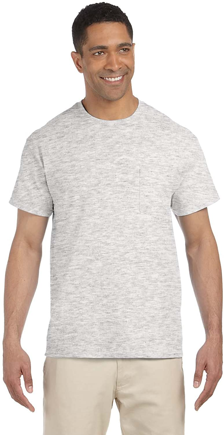 Cotton 6 Oz. Pocket T-Shirt (G230) Ash, M