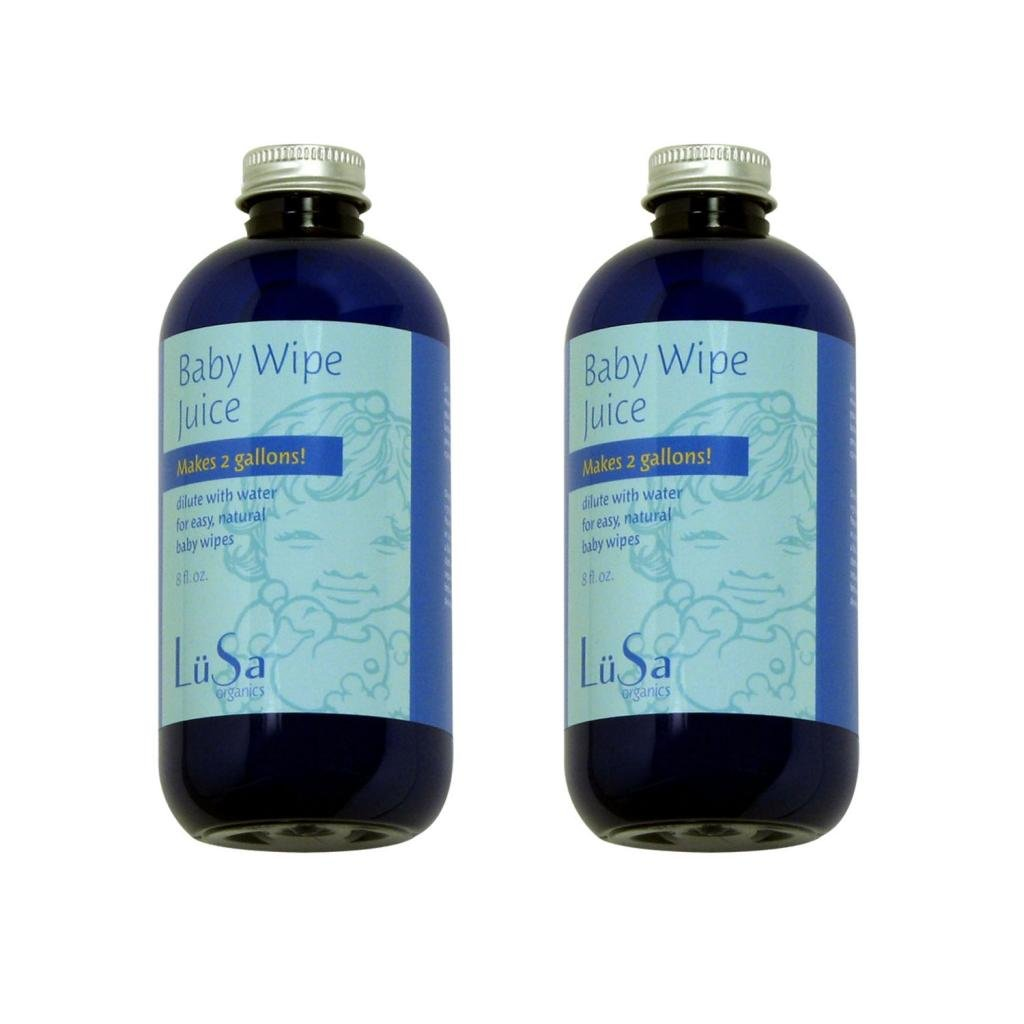 Lusa Organics Baby Wipe Juice, 16 Ounce (2 Pack)