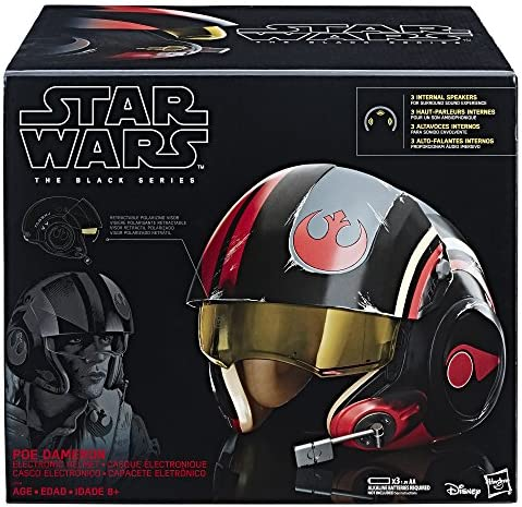 Star Wars The Black Series Gli Ultimi Jedi Poe Dameron X-Wing Pilot Deluxe Casco