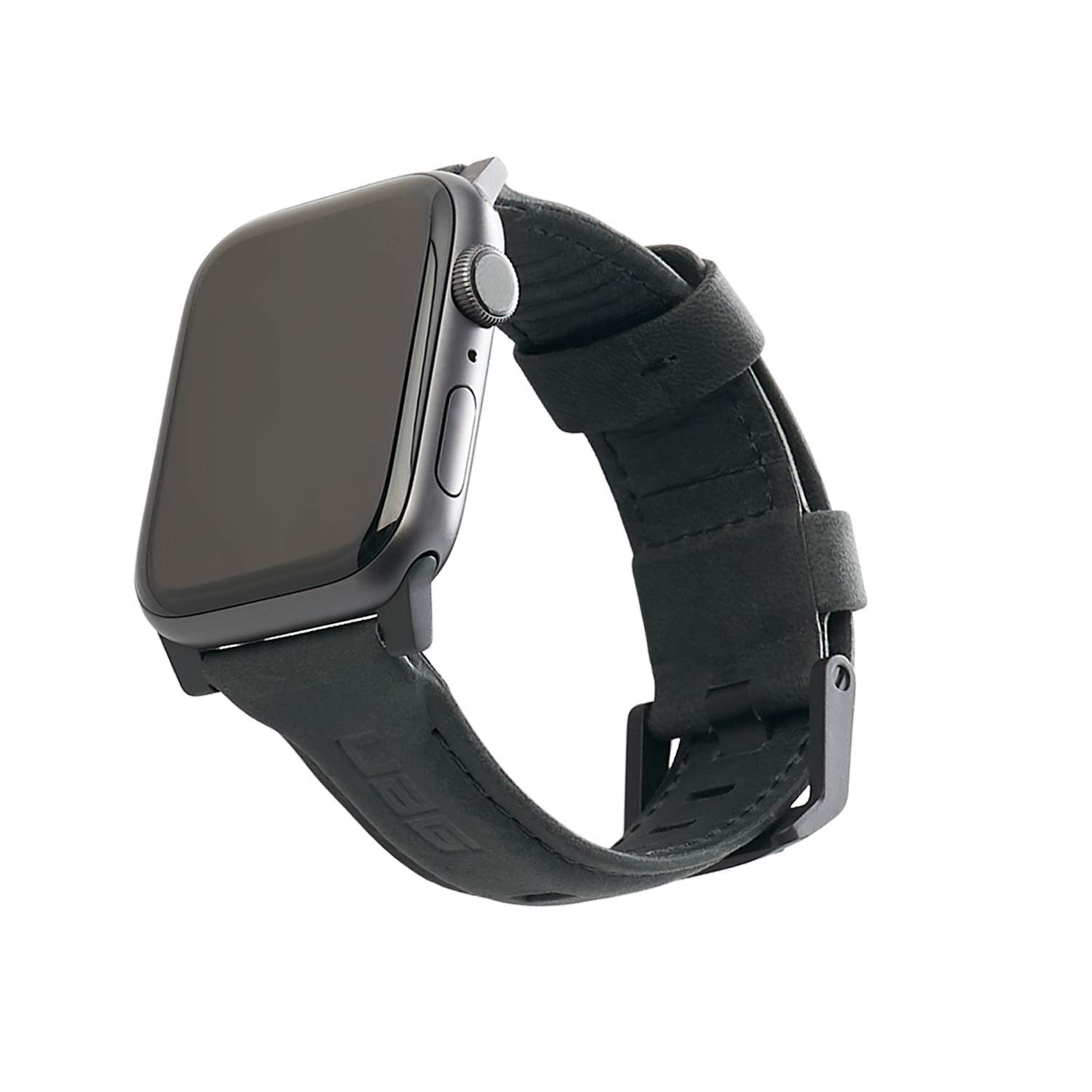 URBAN ARMOR GEAR UAG Compatible Apple Watch Band 44mm 42mm, Series 5/4/3/2/1, Leather Black by URBAN ARMOR GEAR