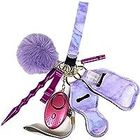 Tixiyu 9 Stks Persoonlijke Alarm Sleutelhanger, Persoonlijke Veiligheid Sleutelhanger voor Vrouwen, Zelfverdediging…