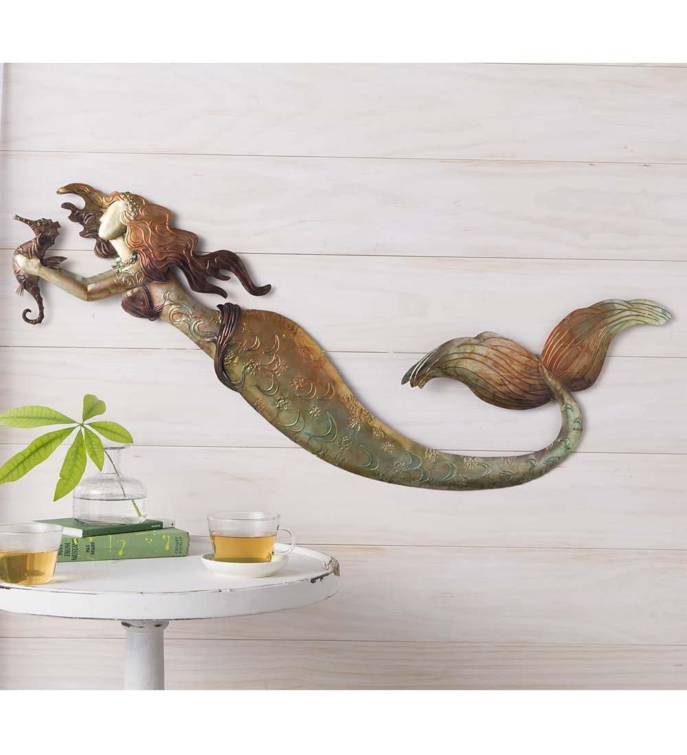 Wind & Weather Metal Mermaid Wall Art
