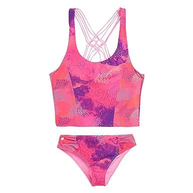 b0356b1ece OFFCORSS Big Little Teen Girls Tankini Swimsuit Tops Set Bathing Suit  Summer Clothing Uv Protection Swimwear
