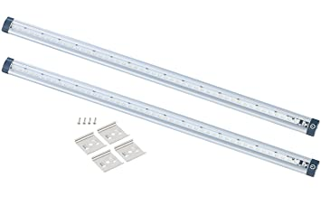 Luminea LED Leiste Touch: LED-Unterbauleuchten 2er-Set, 50 cm, Touch ...