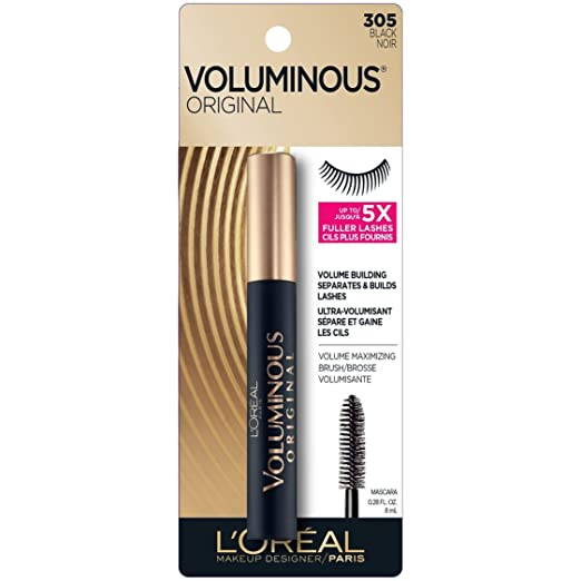 2542c28d8b2 Amazon.com : L'Oreal Paris Voluminous Original Mascara, Black [305] 0.28 oz  : Beauty