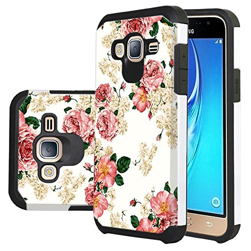 Galaxy J3 Case, Express Prime Case, Amp Prime Case, Harryshell Shock Absorption Drop Protection Hybrid Dual Layer Armor Defender Case Cover for Samsung Galaxy J3 / J3V / Express Prime/Amp Prime/Sol