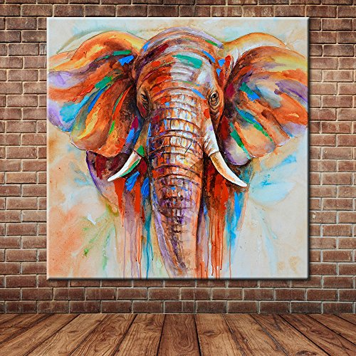 ADESHOP Home Decorations Unframed Banana Leaf Oil Painting Print Picture Home Wall Room Wall Hanging D7