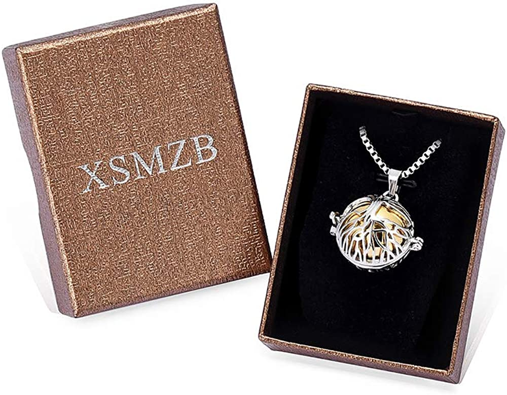 XSMZB Cremation Jewelry for Ashes Lotus Flower Urn Necklace Stainless Steel Hollow Pendant Locket Memorial Keepsake Ashes Necklace