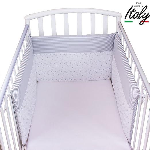 6 opinioni per Babysanity- Paracolpi lettino sfoderabile in cotone colore grigio