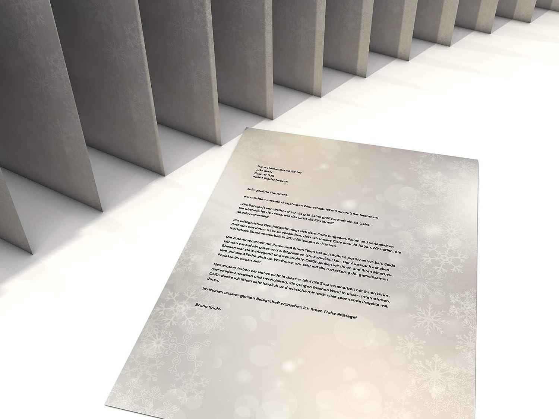 100 Blatt A4 Weihnachtsbriefpapier Tanzende Flocken