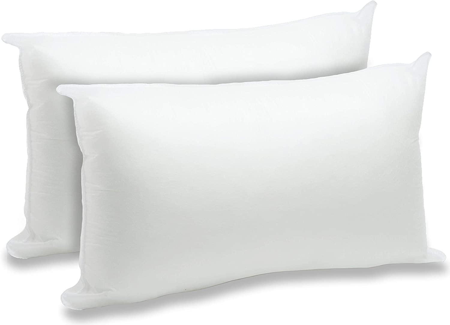 "Foamily 2 Pack - 12"" x 20"" Premium Hypoallergenic Lumbar Stuffers Pillow Inserts Sham Square Form Polyester, Standard/White: Home & Kitchen"