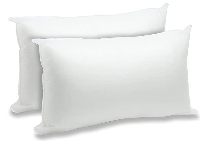 "Foamily 2 Pack   12"" X 20"" Premium Hypoallergenic Lumbar Stuffers Pillow Inserts Sham Square Form Polyester, Standard/White by Foamily"