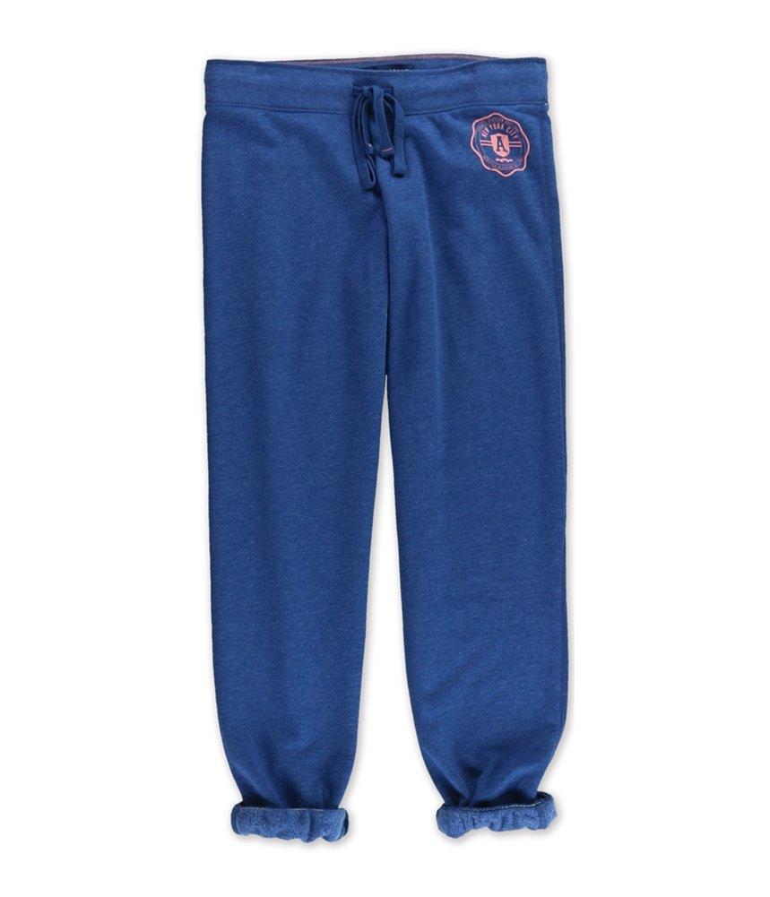 Aeropostale Womens Classic Cinch Athletic Sweatpants Blue M/32 - Juniors