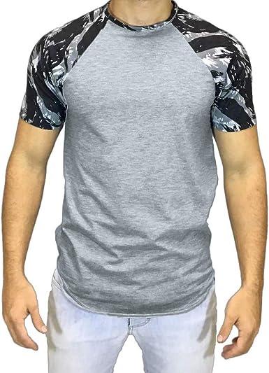Fashion Men Summer Casual Short Sleeve O-Neck Shirt Printed T-Shirts Tops
