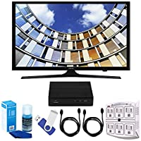 Samsung UN43M5300 43 LED 1080p 5 Series Smart TV Bundle includes TV, 2 HDMI Cables, 16GB Flash Drive, Screan Cleaner, Surge Adapter, and HD Digital TV Tuner with Recording