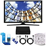 Samsung UN40M5300 40'' LED 1080p 5 Series Smart TV Bundle includes TV, 2 HDMI Cables, 16GB Flash Drive, Screan Cleaner, Surge Adapter, and HD Digital TV Tuner with Recording