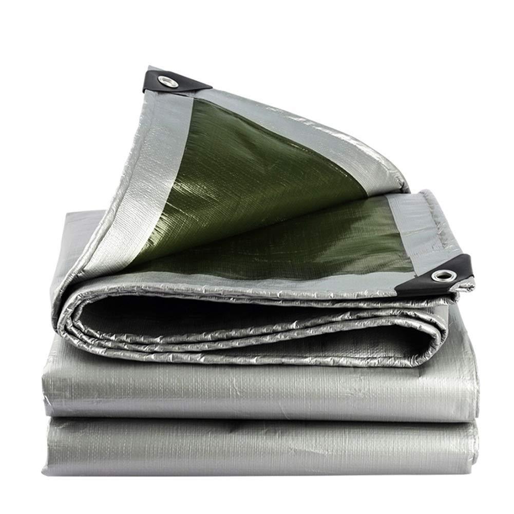 QM-Plane Qing MEI Regenfester, Wasserdichter Segeltuchschuppen, Erntegewächshaus-Gemüseschuppen Abriebfest (Farbe  Silber + Militärgrün) A+ (größe   8x10m)