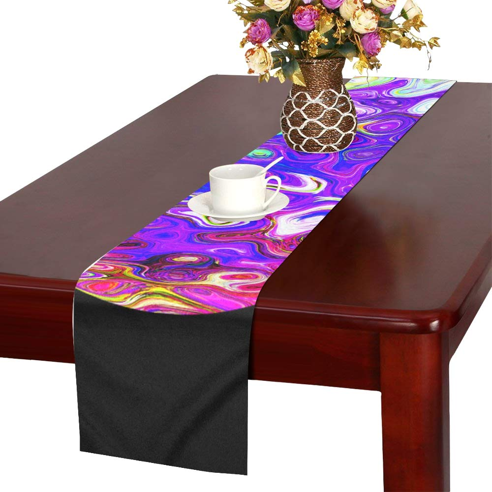 Deco Isolated Graphic Decorative Colorful Color Table Runner, Kitchen Dining Table Runner 16 X 72 Inch For Dinner Parties, Events, Decor