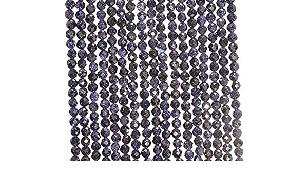 """2MM BLUE SANDSTONE GEMSTONE GRADE AAA MICRO FACETED ROUND LOOSE BEADS 15.5/"""""""