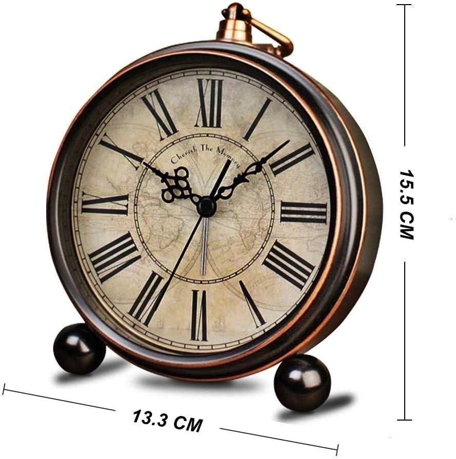 Retro Style Decorative Alarm Clock Table Bedside Bed Alarm Clock Home Decor Gift