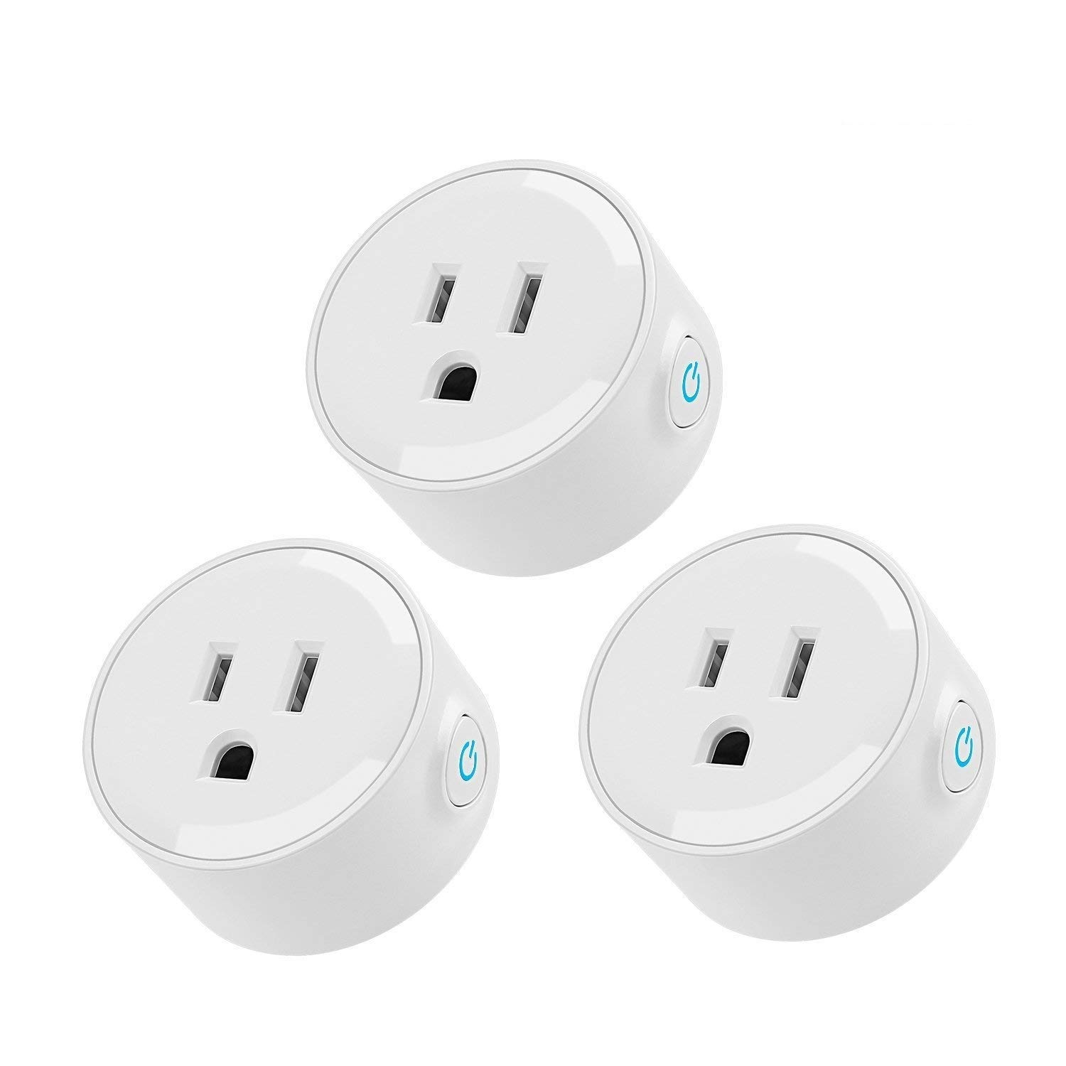 LITEdge Smart Plug, Compatible with Alexa, Wi-Fi Accessible Power Outlet, No Hub Needed, Control with App on Phone, Pack of 3