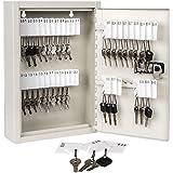 KYODOLED Key Storage Lock Box with Code,Locking Key Cabinet,Key Management Wall Mount with Combination Lock,40 Key Hooks…