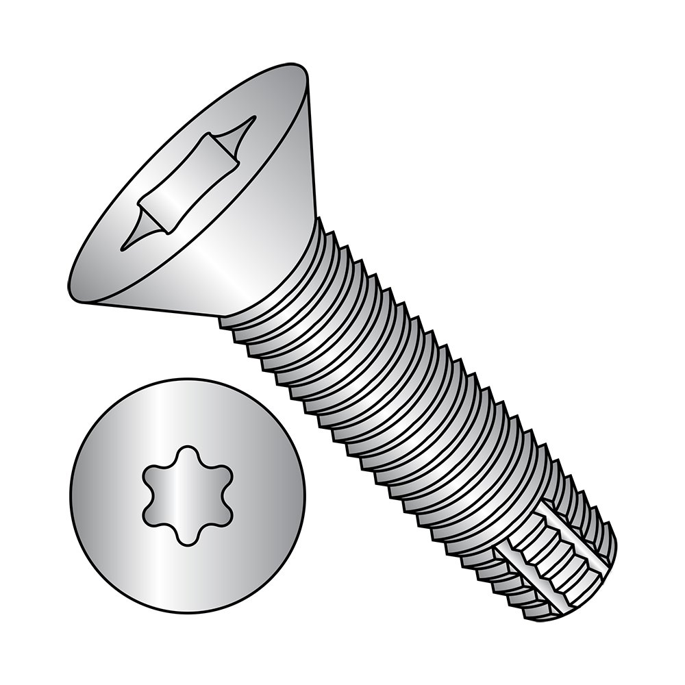 1//4-20 Thread Size 1 Length 18-8 Stainless Steel Thread Cutting Screw Star Drive Plain Finish 1 Length Pack of 10 1//4-20 Thread Size Pack of 10 82 Degree Flat Head Type F Small Parts 1416FTF188