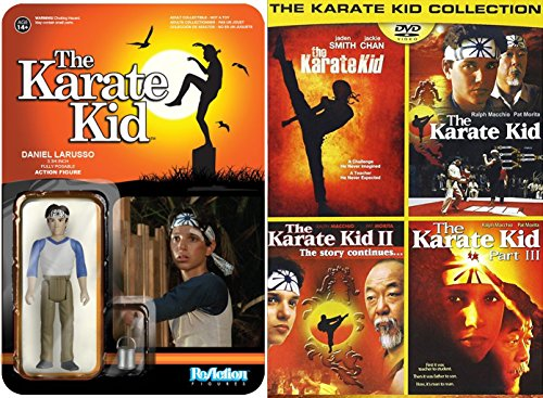 - Karate Kid The Family Movie Sport Set DVD & Funko Reaction: Daniel Larusso Action Figure & 3 Karate Kid 1,2 & 3 + Remake Collection