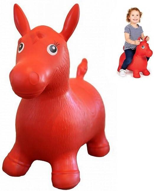 Balón saltador caballo niño rojo pogo juguete bebé: Amazon.es: Hogar