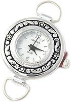 Geneva Elite Silver Tone Round Watch Face for Beading Lw008