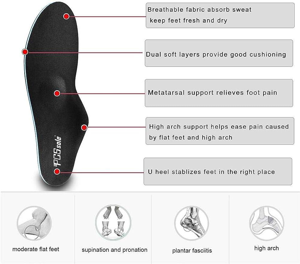 fascitis plantar dolor de pie PCssole La plantilla apoya la plantilla ortop/édica funcional m/édica suave del pastel del alto arco pie plano de la inserci/ón