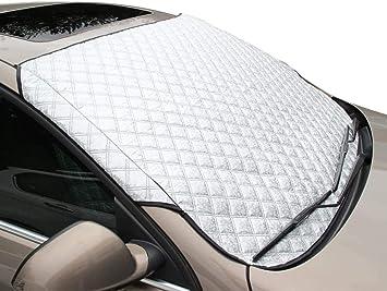 150x70cm Mgsiko Frontscheibenabdeckung Auto Scheibenabdeckung Windschutzscheibe Frostschutzfolie Frontscheibe Frostabdeckung Scheibenfrostschutz gegen Schnee Frost Sonne Autoscheibenabdeckung