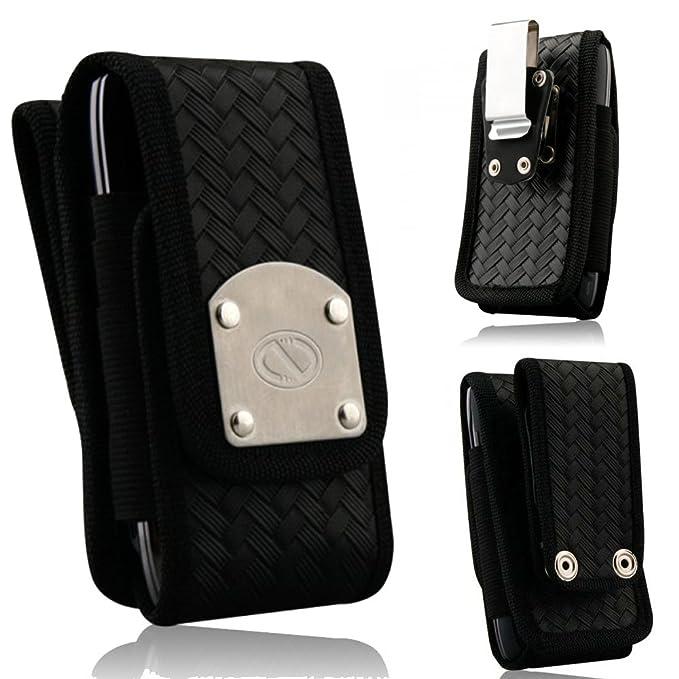 low priced 3e809 e03e9 Law Enforcement Tactical Patrol Duty Belt Case with Metal Clips fits iPhone  6 PLUS with Ballistic Tough Jacket on it.