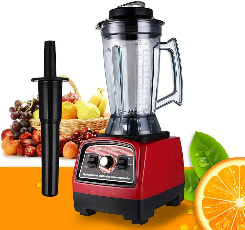 RanBB Food Processor Mixer Blender, 3.9L 2800W Commercial High Speed Blender Juicer Food Smooth Ice Cream Maker